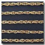 Gold Plate Flat Rope Style Chain 6mm