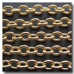 Gold Plate Classic Elongated Oval Cable Chain 6x4.1mm