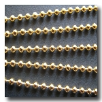 Gold Plate Ball Chain 2mm