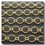 Gold Plate Crimped Oval Style Chain