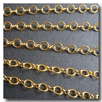 Gold Plate Petite Figure Eight Style Chain