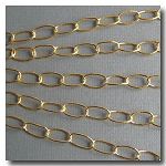 Gold Plate Large Stylish Oval Chain