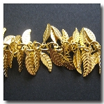 Gold Plate Leaf Chain