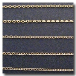 Gold Plate Pendant Chain 1mm
