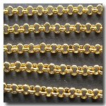 Gold Plate Small Classic Rolo (Belcher) Style Chain 2.5mm