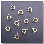 Gold Plate Spring Ring Clasp 6 pieces - 7mm