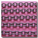 Gunmetal Classic Elongated Oval Cable Chain 6x4.1mm