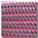 Gunmetal Diamond Cut Large Cable Chain