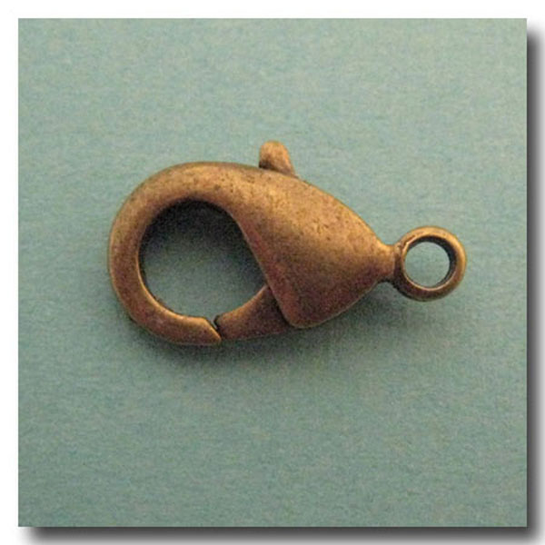 Lobster Clasp Antique Brass 19x12mm Chaingallery 174