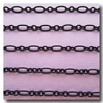 Matte Black Romantic Style Chain