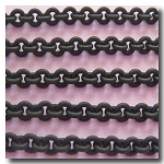Matte  Small Round Black Chain 2.5mm