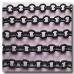 Matte Small Oval Black Chain 3.5mm x 3mm