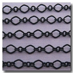 Matte Black Crimped Moderne Victorian Chain