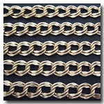 Matte Gold Plate Large Double Curb Chain 9.8x11mm