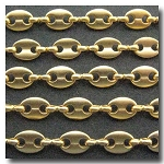 Soft Matte Gold Plate Key Hole Design Chain