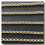 Matte Gold Plate  Rolo (Belcher) Style Chain 3mm
