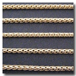 Matte Gold Plate Small Wheat Chain 3mm