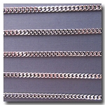 Rhodium Plate Medium Diamond Cut Boxcar Curb Chain 4mm