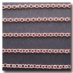 New Rose Gold Plate Small Classic Rolo Style Chain 2mm