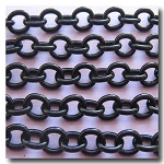 Shiny Black Contemporary Cable Chain 8mm x 7mm