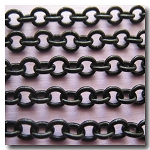 Shiny Small Oval Black Chain 3.5mm x 3mm