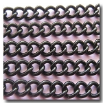 Shiny Black Curb Chain