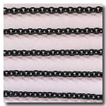 Shiny Small Oval Black Chain 3.5 x 3mm