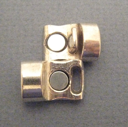 Antique Silver Euro Licorice Magnetic Clasp For 10 X 6mm