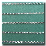 Silver Plate Petite Flat Cable Chain 2mm