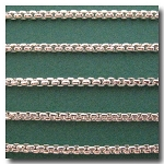 Silver Plate New Box Chain 3mm