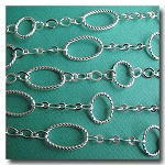 Silver Plate Contemporary Braided Chain