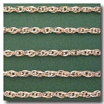 Silver Plate Flat Rope Style Chain 6mm