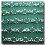 Silver Plate Crimped Moderne Victorian Chain
