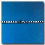 Stainless Steel Necklace | Italian Box Chain 2.4mm | 20 inch