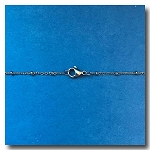 Stainless Steel Necklace | Oval Chain 2mm with Ball | 18 inch