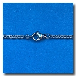 Stainless Steel Necklace | Oval Link Chain 2.5mm | 24 inch