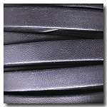 Black European Flat Leather 10mm