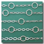 Silver Plate Contemporary Ring Chain