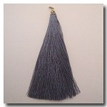 1-1727 Mystique Silver Tassel w/Antique Gold Tassel Cap - 3.5