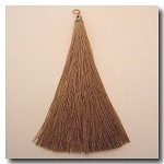 1-1730 Mocha Tassel w/Antique Gold Filigree Cap - 3.5