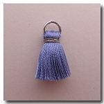 Silk Tassel | Half Inch | Periwinkle Blue | Antique Silver Jump Ring