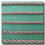 Antique Silver/Pewter Plate Rope Style Chain 3mm
