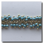 Marine Blue Beaded Dangle Chain