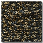 Black Spinal Stone Chain