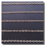Gold Plate Petite Cable Flat Chain 2mm