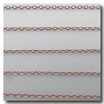 Brushed Silver Plate Petite Flat Cable Chain 2mm