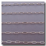 Rhodium Plate Flat Elongated Cable Chain