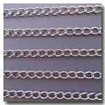 Rhodium Plate Larger Style Classic Curb Chain 8.5mm x 5mm