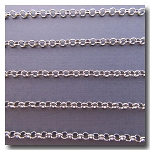 Rhodium Plate Rolo (Belcher) Style Chain 3mm