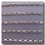 Rhodium Plate Rectangle Chain